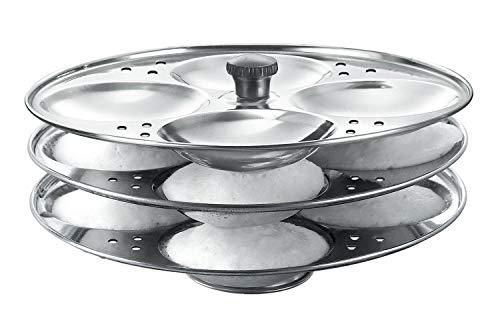 Petalshue® Stainless Steel 3 Plate Idli Stand   Idli Maker, Makes 12 Idlis (Silver) (B08CCHPSS2) Amazon Price History, Amazon Price Tracker
