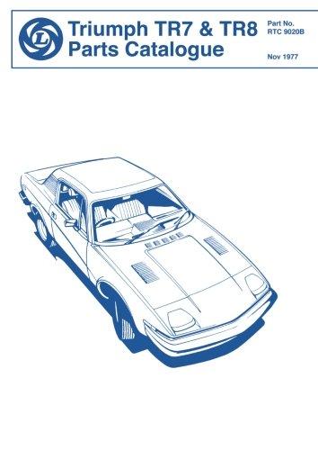 Triumph TR7 & TR8 Parts Catalog