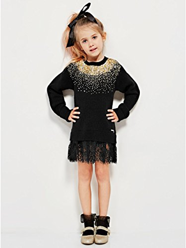 GUESS Girl's Embellished Sweater (7-16) (Guess Wool Sweater)