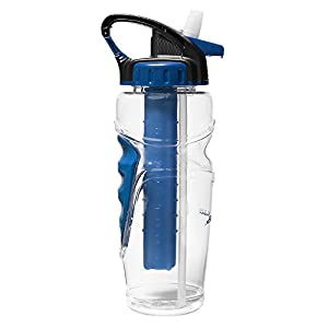 Eddie Bauer Unisex-Adult 32-Oz. Freezer Water Bottle, Blue ONE SIZE Regular