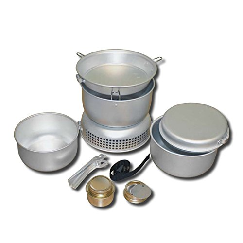 Igo Online Shop Out-D 8 Piece in 1 Camping Cookware Set Stove Outdoor Cooking Equipment Lightweight Kit Backpacking Gear & Hiking Cookset with Burner by Igo Online Shop