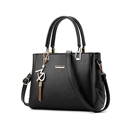 Tisdaini purse leather handbag Women PU wallet fashion simple bag Black handbags shoulder Messenger fcrf6Wqa