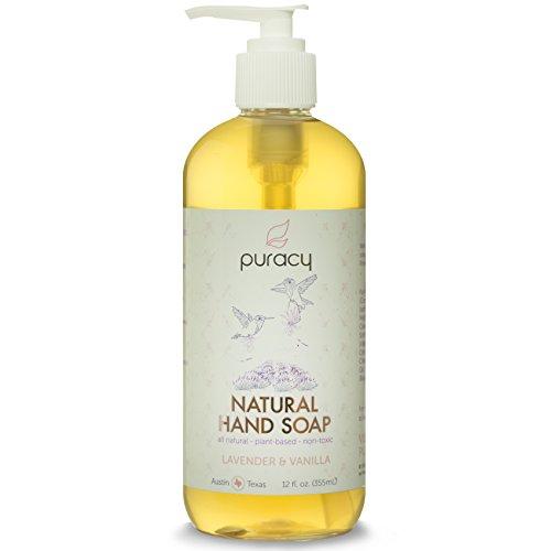 100% натуральный Жидкое мыло для рук (4 шт), # 1 клиентов Номинальная Ручная стирка, лаванды и ванили Эфирные масла, 12 унций бутылки насоса