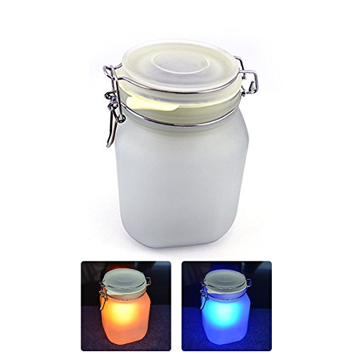 Yellow Solar Sun Jar Lamp - 4