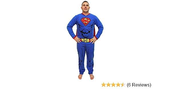 DC Comics Superman Muscle Adult Costume Union Suit with Cape