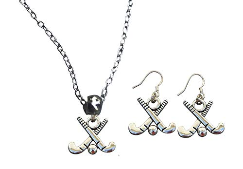 Infinity Collection Field Hockey Charm Necklace & Earring Gift Set, Field Hockey Jewelry, forl Field Hockey Players, Moms and Coaches
