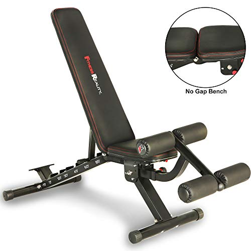 Fitness Reality 2000 Super Max XL High Capacity NO Gap Weight Bench with Detachable Leg Lock-Down ()