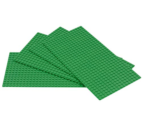 Sawaruita Classic Green Baseplate Supplement 5 x 10 Building Bricks Sets Compatible with All Major Brands Kids Games