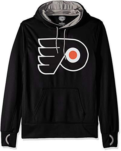 NHL Philadelphia Flyers Male OTS hooded Pullover, Jet Black, XX-Large