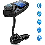 Bluetooth FM Transmitter Wireless In-Car Radio Adapter MP3 Player Car Kit With USB Car Charger Input 1.44 inch Display micro-SD card Slot
