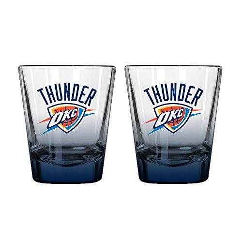 NBA Oklahoma City Thunder Elite Shot Glass, 2-ounce, - City Glasses Oklahoma