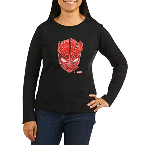 CafePress Spider Man Red Ma Women's Long Sleeve Dark T Shirt Women's Long Sleeve T-Shirt, Classic 100% Cotton Crew Neck Shirt (The Amazing Spider Man Long Sleeve Shirt)