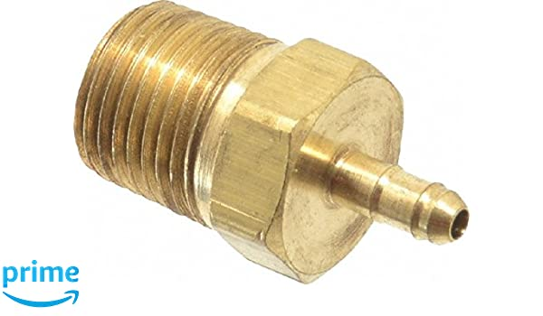 3//8 Barb Tube x 1//4 Barb Tube Parker Hannifin 224-6-6-4 Dubl-Barb Brass Body Union Tee Fitting