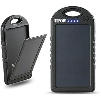 Amazon Com 5000mah Solar Battery Panel Dual Usb Port Rain