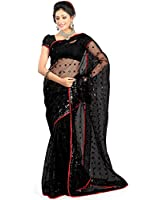Jay Fashion Net Saree With Blouse Piece (Gfssss14_Multi-Coloured_Free Size)