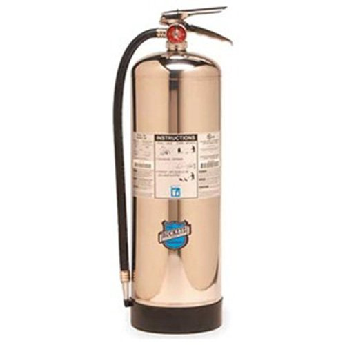 Buckeye 50000 Stainless Steel Water Pressurized Hand Held Fire Extinguisher with Wall Hook, 2.5 Gallon Agent Capacity, 7 Diameter x 9 Width x 24-1/2 Height by Buckeye