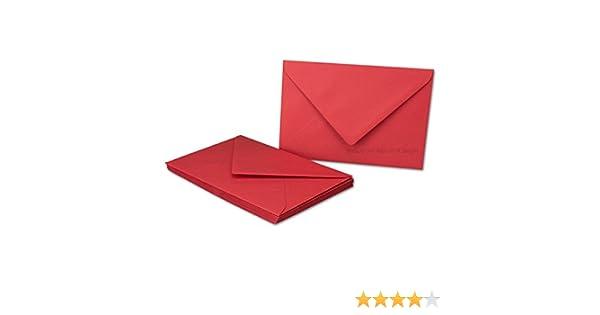 Sobres Amapolas de color rojo/-/Din B6/-/80/g//m/²/-/176/x 120/mm/-/nassklebung/-/Marca de calidad color Klatschmohn Rot 50 Umschl/äge neuser