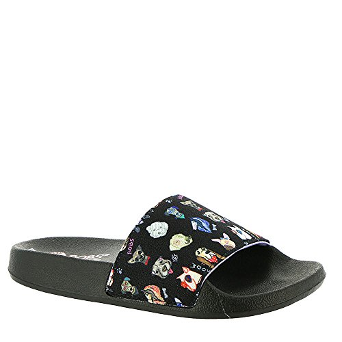 Skechers Print Sandals - Skechers Bobs Pop Ups-Dapper Dog Women's Sandal 7 B(M) US Black