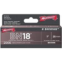 Arrow Fastener BN1816B Genuine 1-Inch, 18-Gauge Brown Brads, 2, by Arrow Fastener