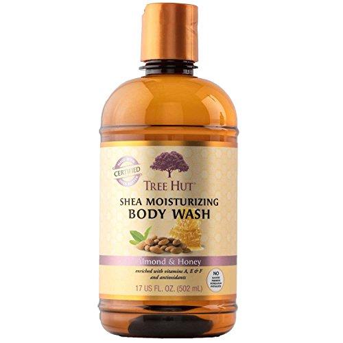 Tree Hut Shea Moisturizing Body Wash, Almond and Honey, 17 F