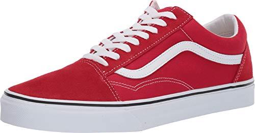 Vans Mens Old Skool Racing RED True White Size 11 (Vans Shoes Old Skool Men)
