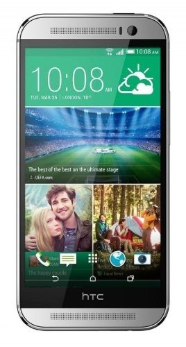 HTC One M8 32GB Unlocked GSM 4G LTE Quad-Core Smartphone - Glacial Silver