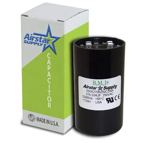 Pack of (5), 270-324 uF x 220/250 VAC - BMI Start Capacitor # 092A270B250CE7A - Made in The USA