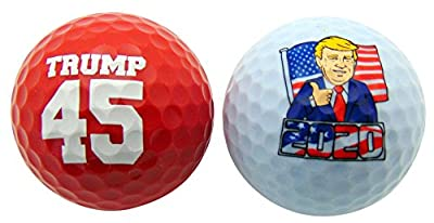 Donald Trump 45th President of the United States Novelty Golf Balls, Set of 2