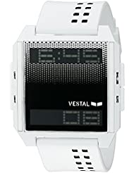 Vestal Unisex DIG040 Digichord Digital Display Quartz White Watch