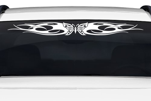 Sticky Creations - Design #115-01 Butterfly Tribal Flame Windshield Decal Sticker Vinyl Graphic Back Rear Window Banner Tailgate Car Truck SUV Van Go Cart Boat Trailer Wall | 36