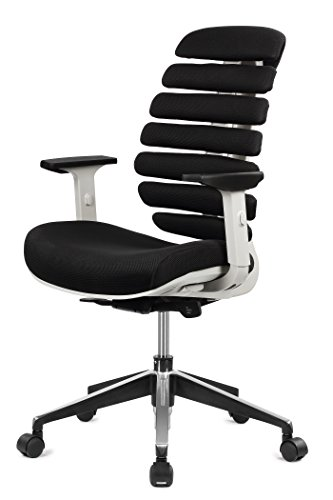 ERGO HQ Executive Office Chair Mid-Back Fabric Mesh Chair with Chrome Base and Adjustable Seat and Arm Rest (Ergo Task Chair)