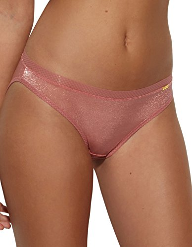 Gossard 6273 Women's Glossies Dusty Rose Pink Knickers Panty Full Brief LGE