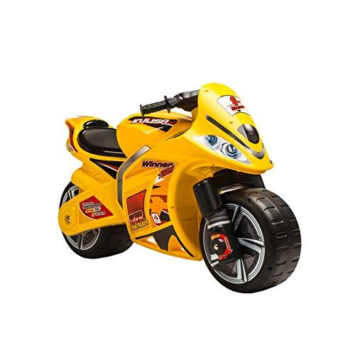 INJUSA – Moto Correpasillos Winner Color Amarillo Recomendado para Niños +3 Años con Ruedas Anchas y Asa de Transporte (194/000)