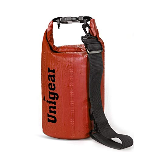 Unigear 5L/10L/20L/30L/40L 600D Dry Bag Sack, Waterproof Floating Dry Gear Bags for Boating, Kayaking, Fishing, Rafting, Swimming, Camping and Snowboarding (Red, 40L)