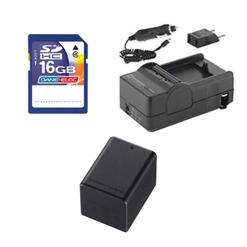 - Canon Legria HF R56 Camcorder Accessory Kit includes: SDBP727 Battery, SDM-1556 Charger, SD4/16GB Memory Card