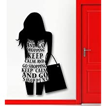 Wall Sticker Vinyl Decal Silhouette Sexy Girl Shopping Fashion Style VS2253