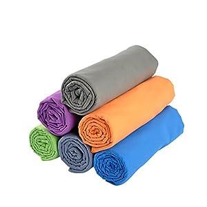 RainLeaf Antibacterial Microfiber Towel, X-Large (30 x 60 inches), Blue
