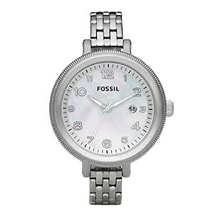 Fossil Sport AM4305 - Reloj analógico de cuarzo para mujer, correa de acero inoxidable color plateado (agujas luminiscentes)
