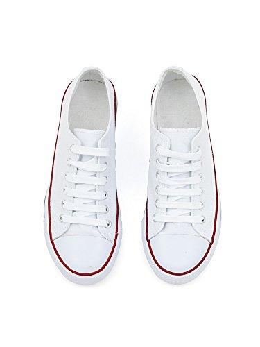 da VISSTEME Bassa Bianco Classic Donna Sneaker Zfzq5