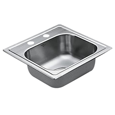 Moen G224562 2200 Series 22 Gauge Single Bowl Drop In Sink, Stainless Steel (Moen Drop In Sink)
