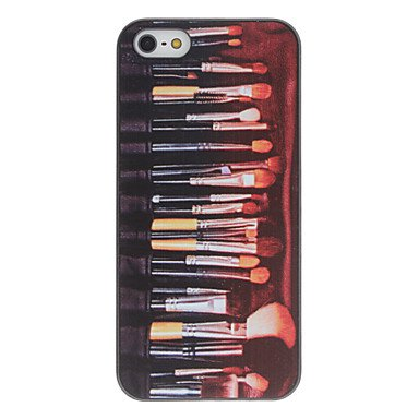 Make up Brushes Set Pattern PC Hard Case with Interior Matte Protection for iPhone 5/5S