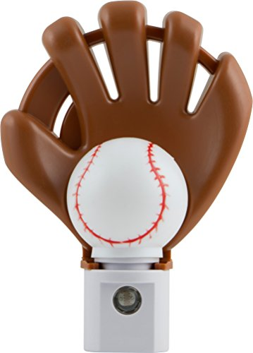 Jasco Products 13365 Night Light with LED Sports Shade Baseball Auto ()