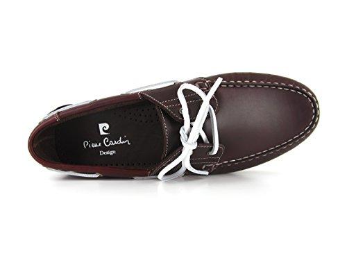 Cardin Bordeaux Bateaux Chaussures Rouge Pc1605bo Pierre 0wn80x