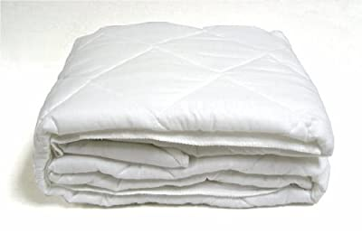 """Quilted Cot Size Cotton Top Camp Mattress Pad, 30"""" X 75"""" X 10"""""""