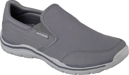 Skechers Mens Vestibilità Rilassata Attese Tosco Slip On Charcoal / Grey