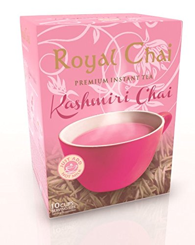 Royal Chai Sweetened Pack of Sachets, Kashmiri Pink, 10 Count