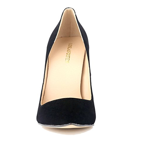 8c442ce94e4 Loslandifen Womens Closed Toe High Heels Pointed Slender Stiletto Pumps(302 -1VE36