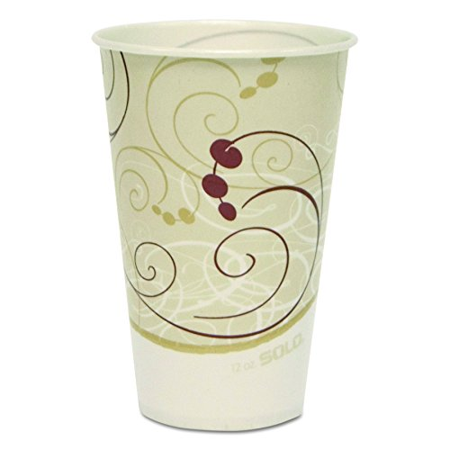 Solo R12N-J8000 12 oz Symphany Waxed Paper Cold Cup (Case of 2000) 12 Oz Waxed Cold Cup