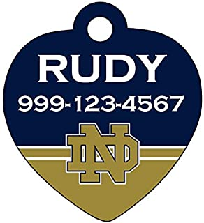 uDesignUSA Notre Dame Fighting Irish Pet Id Tag for Dogs   Cats Personalized  w Name 5c320920a