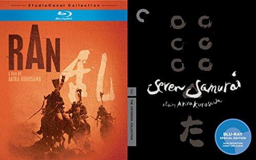 Seven Samurai (The Criterion Collection) Blu Ray + Ran (StudioCanal Collection) Akira Kurosawa 2 Pack bundle Movie Set